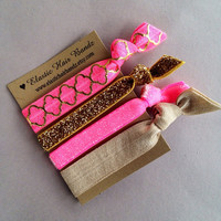 The Daniella Hair Tie Ponytail Holder Collection by Elastic Hair Bandz on Etsy