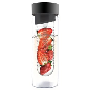 AdNArt Flavour It Glass Water Bottle with Fruit Infuser