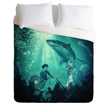Belle13 Concert Under The Sea Duvet Cover