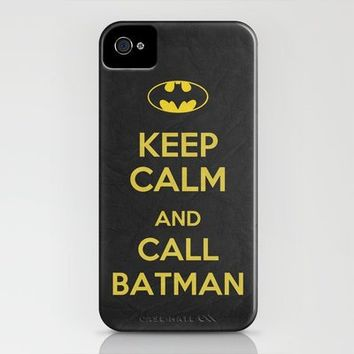 Keep Calm - Batman Poster 01 iPhone Case by Misery   Society6