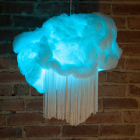 RAINBOW DREAM CLOUDS small hanging pendant lamps. Remote controlled colour changing clouds! Choose from 15 colours and patterns!