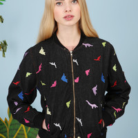 Embroidered Dinosaur Jacket