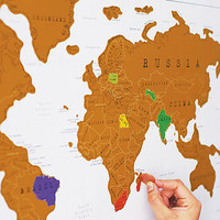 Scratch Off World Map With Gift Wrap