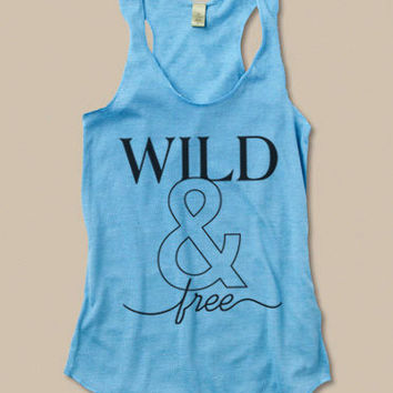 Wild and Free Eco Friendly Racerback Tank Top