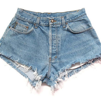 Vintage jean cut offs L by deathdiscolovesyou on Etsy