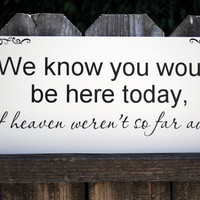 In memory of family Wedding Sign We know you by SignsToLiveBy
