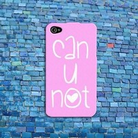 Funny Pink Heart Rubber Cell Phone Quote Case Cover iPhone 4 4s 5 5s 5c 6 Plus +
