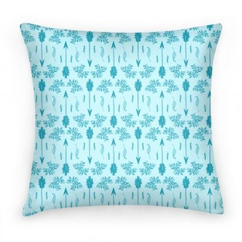Blue Floral Arrow Pattern