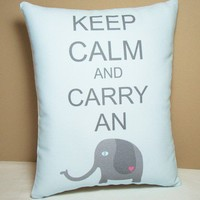 Keep Calm and Carry an Elephant Mini by persnicketypelican on Etsy