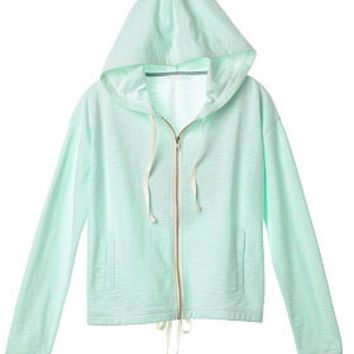 Marled Draw-tie Hoodie - French Terry - Victoria's Secret