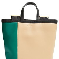 Women's Marni Colorblock Leather Backpack - Green
