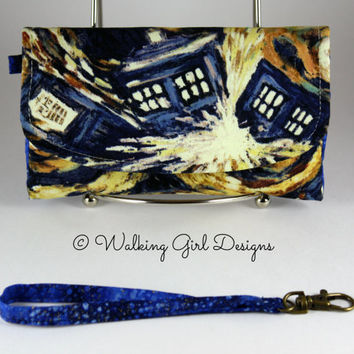 Doctor Who Phone Case Clutch, Wristlet, Smart Phone Clutch, Android phone case, iPhone phone case, Purse, Bag, Clutch Purse, Geek Chic