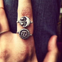 Reversible Silver Sun/Moon Ring // MADE TO ORDER