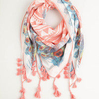 ModCloth Boho Charismatic Confidence Scarf in Pink