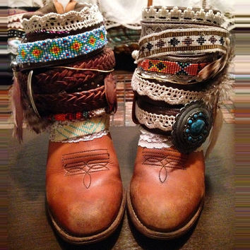 """The """"Connie"""" - Custom Upcycled Leather Cowboy Boots"""