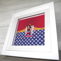 Wonderwoman minifigure frame picture from ARTYLICIOUS | Made By Artylicious | £29.99 | BOUF