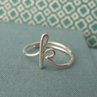 Custom Initial Ringany initial available by Laladesignstudio