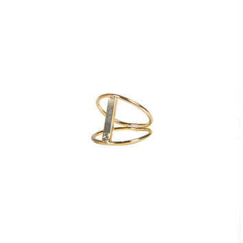 Cut Out Bar Ring - Gold