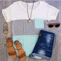 Lia Stripe Top - Mint