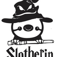 Funny Harry Potter Sloth Slotherin Decal Sticker