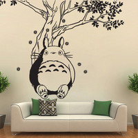Totoro under the Tree Vinyl Wall Art Decal (WD-0594)