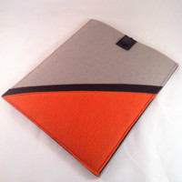 iPad Felt Sleeve Carrier Cozy Pocket Orange and by TwoSisters2Sis