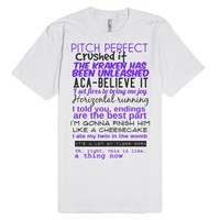Pitch perfect quotes-Unisex White T-Shirt