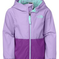 The North Face Girl's 'Flurry' Colorblock Hooded Waterproof Wind Jacket,