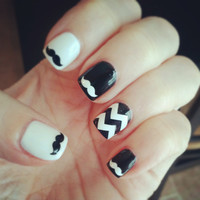 Mustache Nail Decals - Set of 50