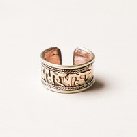 Om Mani Padme Hum Copper & Brass Ring