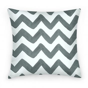 Black and White Watercolor Chevron Pattern