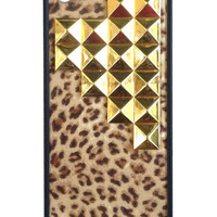 Leopard Gold Pyramid iPhone 5/5s Case
