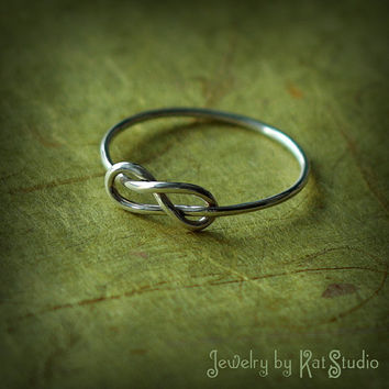Infinity Knot Ring - Handmade - Sterling Silver 925 - Gift Box