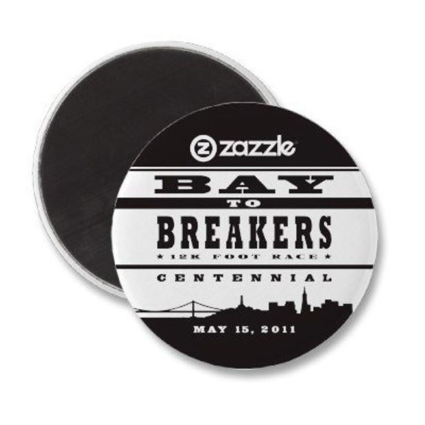 Bay To Breakers Fridge Magnets from Zazzle.com