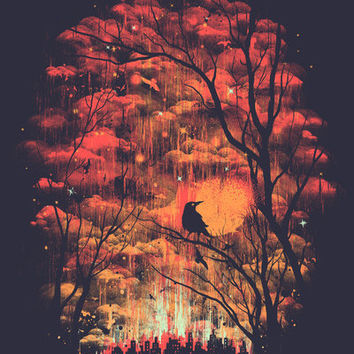 Burning In The Skies Art Print by Robson Borges   Society6