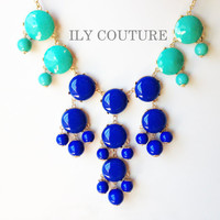 NEW ITEM: Seafoam - Turquoise and Blue Ombre Statement Necklace