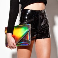 Holographic! Hologram Envelope Clutch Bag | Thrifted & Modern