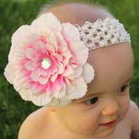 Headbandz Baby Headband with Unique Flower Clip