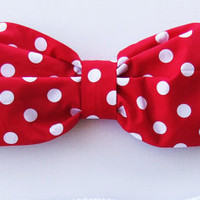 Vintage Bow Bandeau.  DiVa Halter Neck Top. Red and White Polka Dot Vintage Sunkini Sunbathing. Sexy and cute.