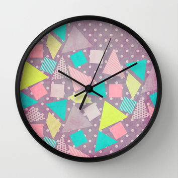 Candy Wall Clock by Louise Machado