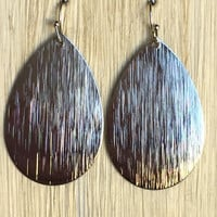 Central Texture Earrings In Silver