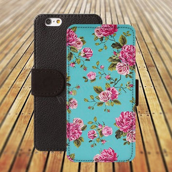 iphone 5 5s case lighting blue and pink rose iphone 4/ 4s iPhone 6 6 Plus iphone 5C Wallet Case , iPhone 5 Case, Cover, Cases colorful pattern L110