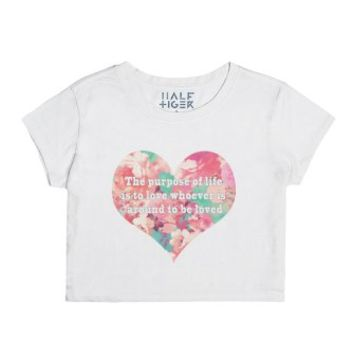 Love is our Purpose-Unisex Snow T-Shirt