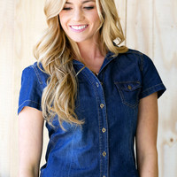 Johanna Denim Button Up