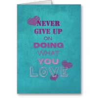 Do what you love motivational text typography greeting card