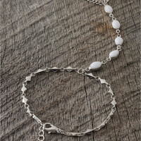 White Stone Detail Hand Jewelry - Lacey Ryan Collection - White