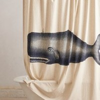 Moby Shower Curtain by Thomas Paul Navy One Size Shower Curtains