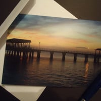September Sunset Blank Greeting Card by ClicksByKaren on Etsy