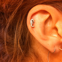 Seahorse Cartliage Earring Tragus Helix Piercing