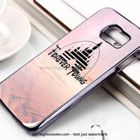 Forever Young Disney Logo Pink Galaxy Nebula Samsung Galaxy S6 and S6 Edge Case
